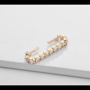 Gold Pearl & Zirconia Ear Cuff